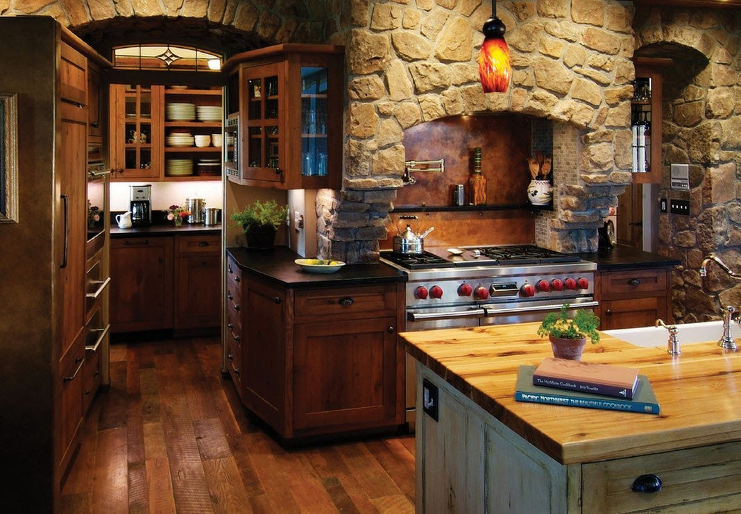 Rustic kitchen interior design carters kitchenion for Rustic style interior